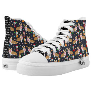 Corgi bubblegum candy - cute bubblegum dog design high tops