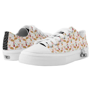 Corgi bubblegum candy - cute bubblegum dog design low tops
