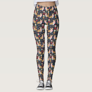 Corgi bubblegum Leggings - dark
