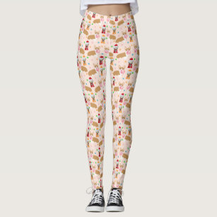 Corgi Bubblegum Leggings - light