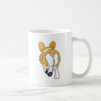 Corgi Butt Basic White Mug