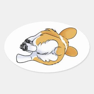 Corgi Butt Oval Sticker