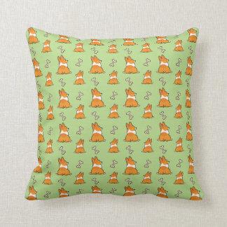 Corgi Butt Pattern Pillow   CorgiThings