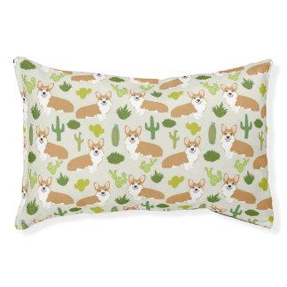 Corgi Cactus - cactus, corgi, desert, dog, dogs Pet Bed