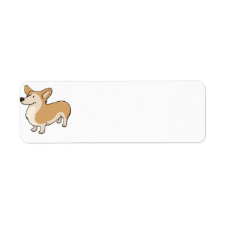 corgi cartoon full return address label