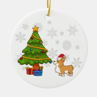 Corgi Christmas Tree Ornament