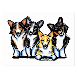 Corgi Clan Postcard