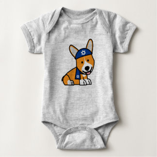 Corgi Corgis dog puppy doggy happy Pembroke Welsh Baby Bodysuit