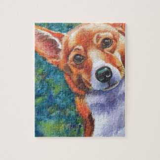 Corgi Curious Dog Jigsaw Puzzle