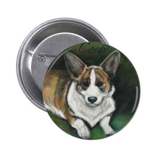 """Corgi Dog Art Button"