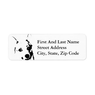 Corgi Dog Black and White Ink Sketch Return Address Label