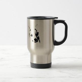 Corgi Dog Black and White Ink Sketch Travel Mug