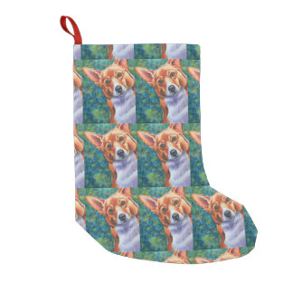 Corgi Dog Christmas Stocking