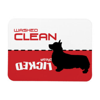 Corgi Dog, Puppy Dishwasher Magnet - Licked Clean