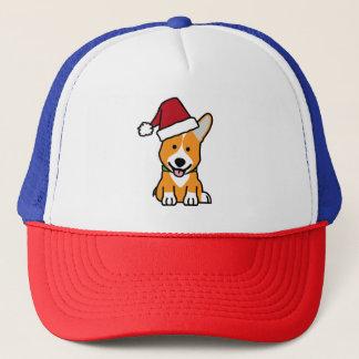Corgi dog puppy Pembroke Welsh Christmas Santa hat
