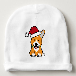 Corgi dog puppy Pembroke Welsh Christmas Santa hat Baby Beanie