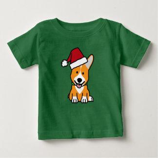 Corgi dog puppy Pembroke Welsh Christmas Santa hat Baby T-Shirt