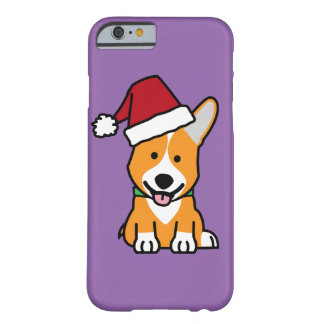 Corgi dog puppy Pembroke Welsh Christmas Santa hat Barely There iPhone 6 Case