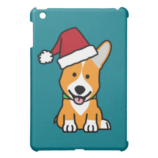 Corgi dog puppy Pembroke Welsh Christmas Santa hat Case For The iPad Mini