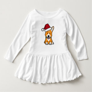 Corgi dog puppy Pembroke Welsh Christmas Santa hat Dress