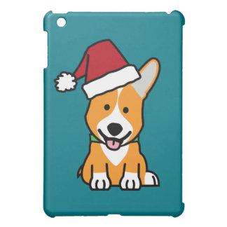 Corgi dog puppy Pembroke Welsh Christmas Santa hat iPad Mini Covers