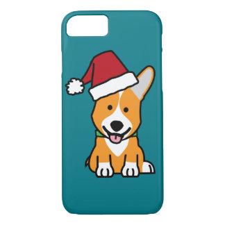 Corgi dog puppy Pembroke Welsh Christmas Santa hat iPhone 8/7 Case