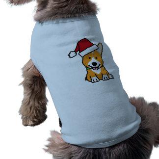 Corgi dog puppy Pembroke Welsh Christmas Santa hat Shirt