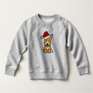 Corgi dog puppy Pembroke Welsh Christmas Santa hat Sweatshirt