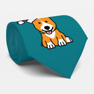 Corgi dog puppy Pembroke Welsh Christmas Santa hat Tie