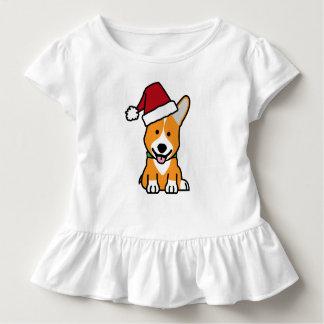 Corgi dog puppy Pembroke Welsh Christmas Santa hat Toddler T-Shirt