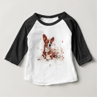 Corgi feather baby T-Shirt