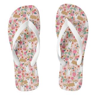Corgi Flip Flops - Pink