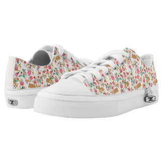 Corgi Floral Lo-tops - cream