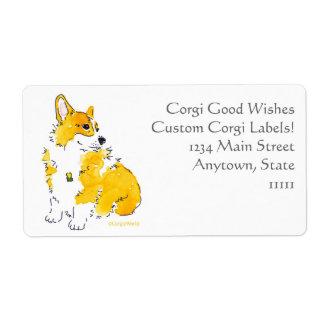 Corgi Good Wishes Custom Labels