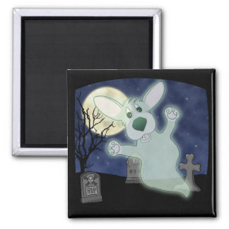 Corgi Graveyard Ghost Magnet