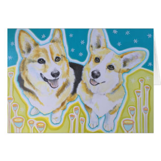 Corgi Greeting Card, envelopes included Card