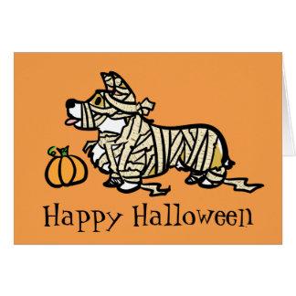Corgi Halloween- Mummy Greeting Card