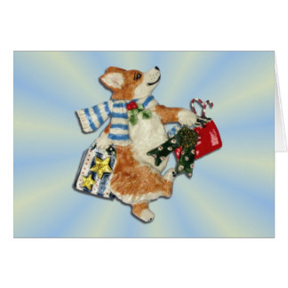 Corgi Holiday Shopper Card