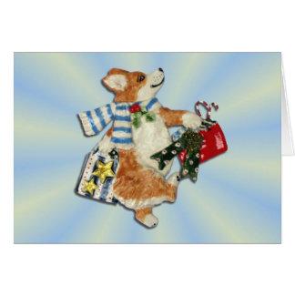 Corgi Holiday Shopper Card