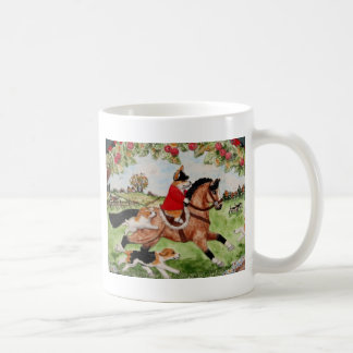 Corgi Huntsman Rides to Hounds Coffee Mug