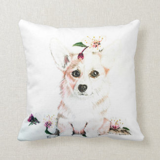 Corgi In Bloom Cushion