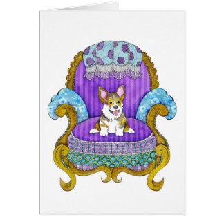 Corgi in Chair Card