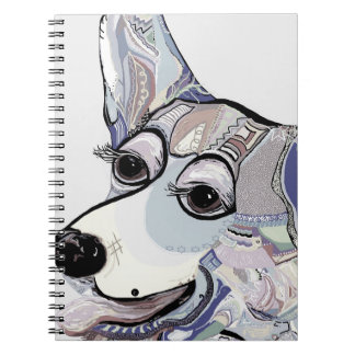Corgi in Denim Colors Notebook
