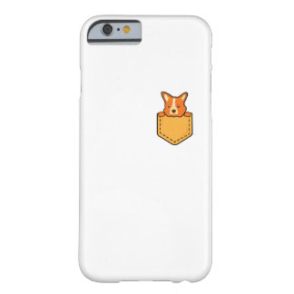 Corgi In Pocket Love Pet Puppy Dog Funny Barely There iPhone 6 Case