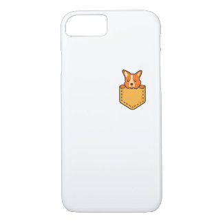 Corgi In Pocket Love Pet Puppy Dog Funny iPhone 8/7 Case