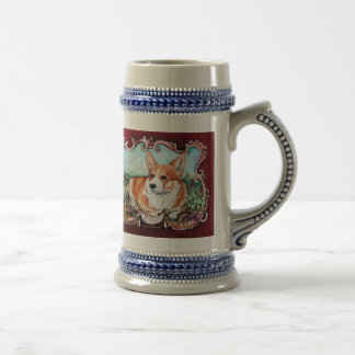 Corgi in the Garden! Beer Stein