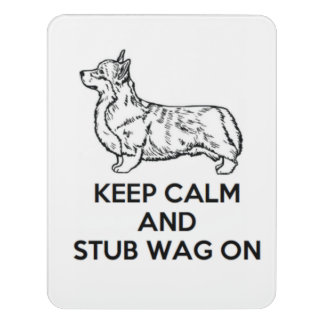 "Corgi ""Keep Calm"" Wall Sign"