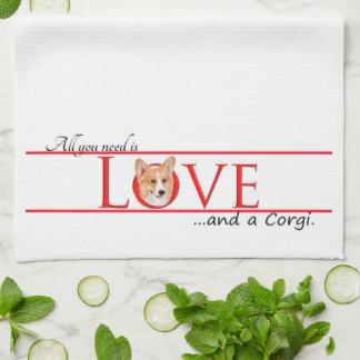 Corgi Love Kitchen Towel