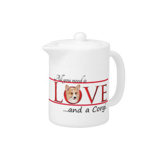 Corgi Love Teapot