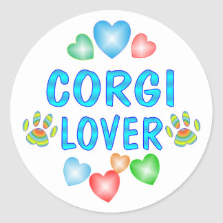 Corgi Lover Classic Round Sticker